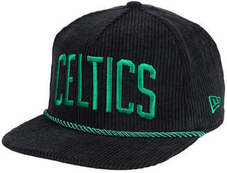 New Era Boston Celtics Hardwood Classic Nights Cords 9FIFTY Snapback Cap