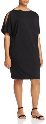 Eileen Fisher Plus Cold Shoulder Cocoon Dress $218 thestylecure.com
