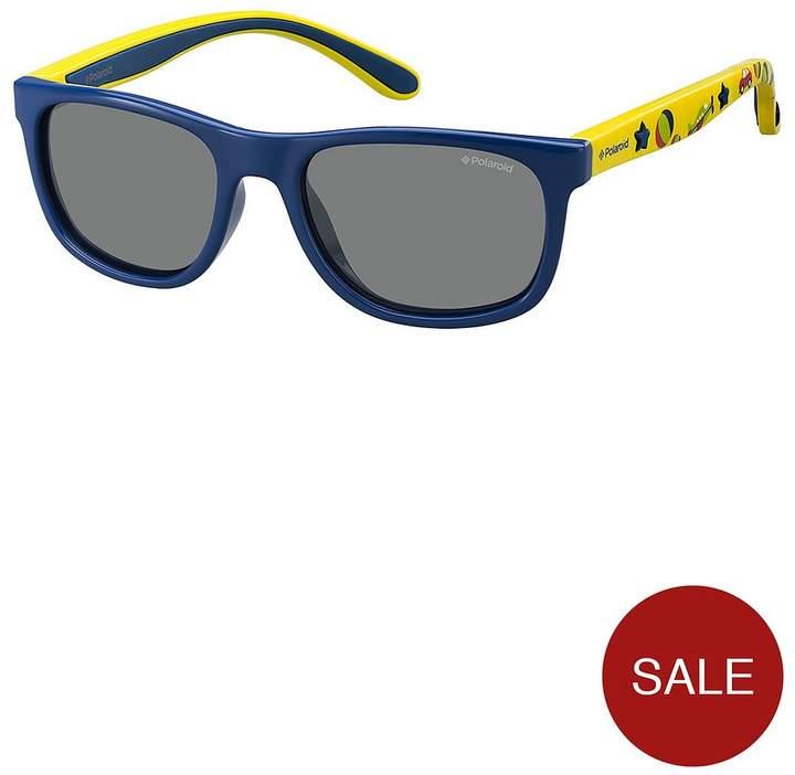 Boys Rectangle Printed Arm Sunglasses