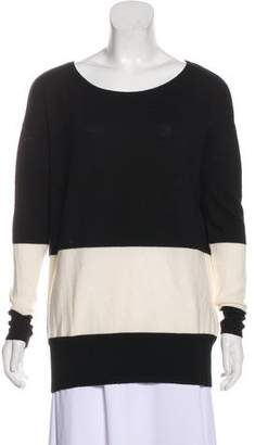Halston Colorblock Crew Neck Sweater