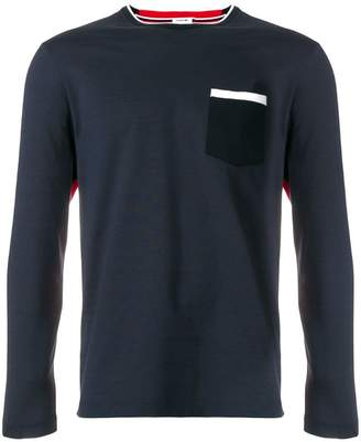 Thom Browne Bicolor Half-And-Half Long Sleeve Tee