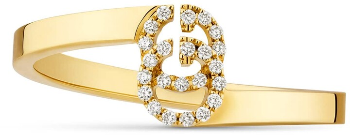 GucciGG ring in rose gold with diamonds