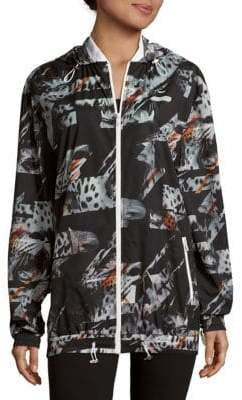 Animal-Inspired Hooded Zipper Jacket