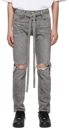 Fear Of God Grey Slim Jeans