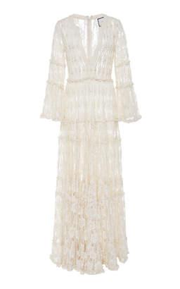 Alexis Alvin Beaded Lace Maxi Dress