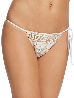 For Love & Lemons Corsica Lace String Bikini Bottom $115 thestylecure.com