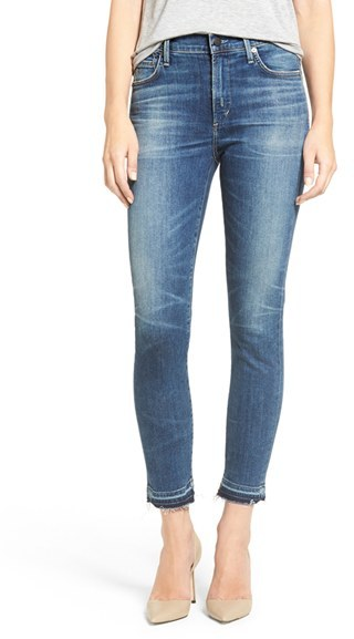 Women's Citizens Of Humanity Rocket High Waist Crop Skinny Jeans