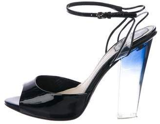 Christian Dior Patent Ankle-Strap Sandals