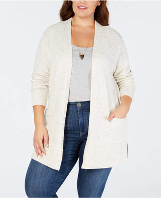 Style&Co. Style & Co Plus Size Ribbed-Knit Open-Front Cardigan