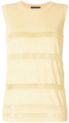 Rochas fine knit sleeveless jumper
