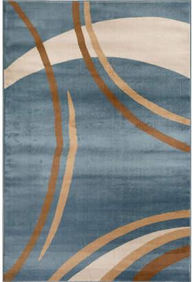 WORLD RUG GALLERY Contemporary Modern Wavy Circles Rectangular Rugs