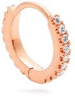 Maria Tash - Diamond And Rose Gold Single Mini Hoop Earring - Womens - Rose Gold