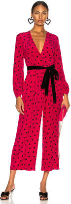 Valentino Crepe de Chine Pretty Hearts Jumpsuit