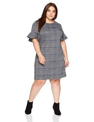 Calvin Klein Women's Plus Size Flutter Sleeve Shift Dress