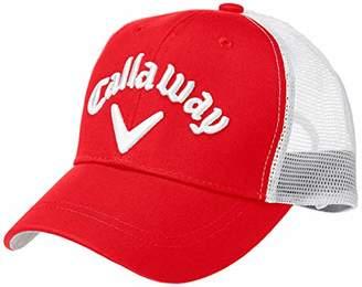 Callaway (キャロウェイ) - [キャロウェイ] [レディース] 定番 ロゴ入り メッシュキャップ (サイズ調整)[ 241-9984809 / AMERICAN MESH CAP WOMENS ] 帽子 ゴルフ 100_レッド 日本 FR (FREE サイズ)