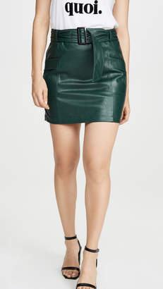 KENDALL + KYLIE Charlie Vegan Leather Skirt