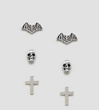 Kingsley Ryan sterling silver halloween stud earrings pack