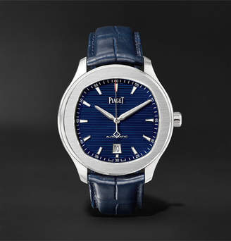 Piaget Polo S 42mm Stainless Steel and Alligator Watch - Men - Blue
