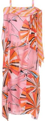 Emilio Pucci Cold-Shoulder Printed Silk-Seersucker Kaftan