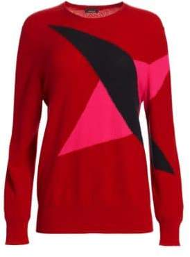 Akris Long Sleeve Cashmere Knit Pullover