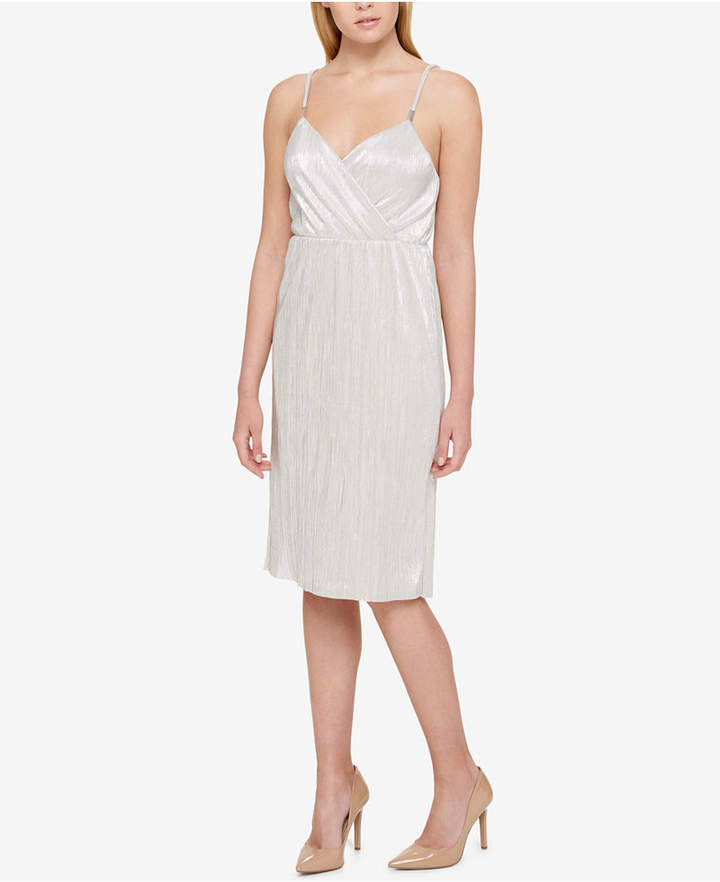 Guess Shimmer-Pleated Dress
