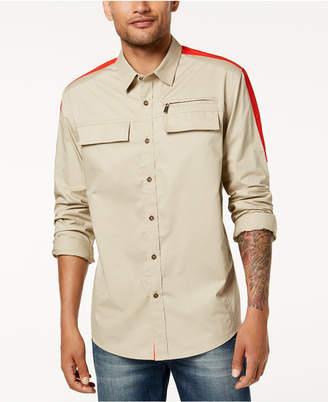 Sean John Men's Dual-Pocket Flight Shirt