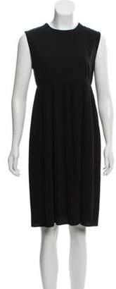 Calvin Klein Collection Pleated Knee Length Dress Black Pleated Knee Length Dress