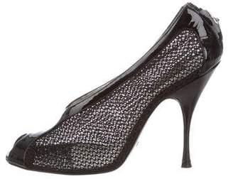 Dolce & Gabbana Patent Leather Mesh Pumps