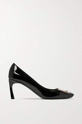 Roger Vivier Belle Vivier Trompette Patent-leather Pumps - Black