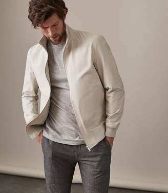 Reiss Biasco Collared Bomber Jacket