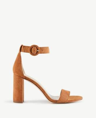 Ann Taylor Leannette Suede Leather Block Heel Sandals