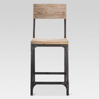 """Threshold 24"""" Franklin Counter Stool Steel/Natural"""