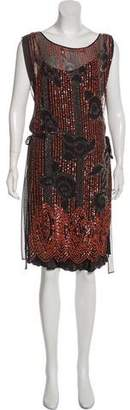 Blumarine Embroidered Midi Dress