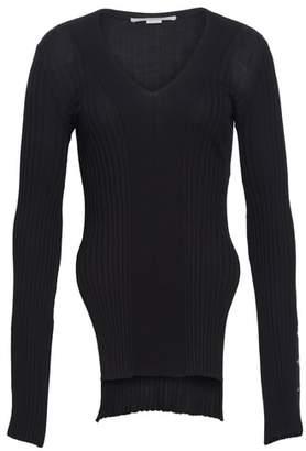 Stella McCartney Front Slit Wool & Silk Sweater