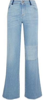 RED Valentino Patchwork Faded Mid-Rise Bootcut Jeans