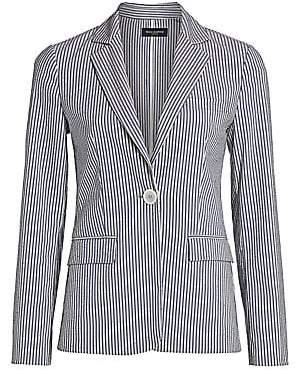 Piazza Sempione Women's Pinstripe Blazer