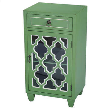 Mistana Fairhills 1 Drawer and 1 Door Accent Cabinet with Glass Insert