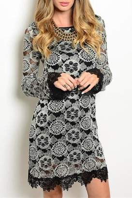 Sage Black Lace Dress