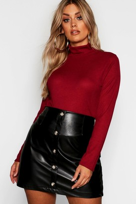 boohoo Plus Rib Turtle Neck Sweater