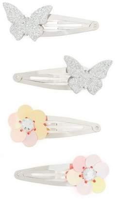 Gymboree Flower Clip Set