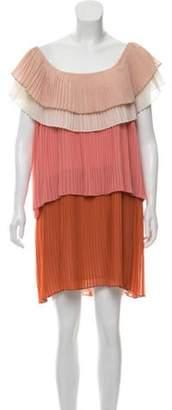 DELFI Collective Paige Short Sleeve Mini Dress w/ Tags Nude Paige Short Sleeve Mini Dress w/ Tags