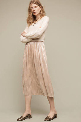 Eri + Ali Dusted Metallic Midi Skirt $148 thestylecure.com