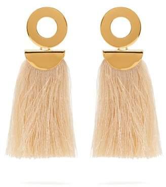 Lizzie Fortunato Go-Go crater tassel earrings