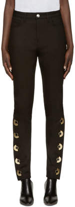 Anthony Vaccarello Black Skinny AV Jeans