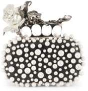 Alexander McQueen Rose Four-Ring Clutch