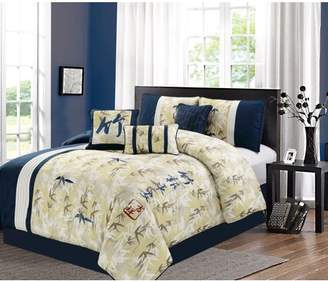 Elight Home Feng-shui embroidery 7 piece comforter set 21082K