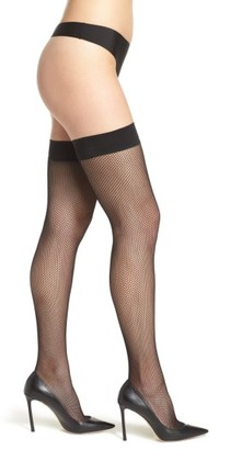 Women's Dkny Fishnet Stay-Up Stockings $18 thestylecure.com