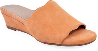 9115ed8a375 Bettye Muller Concept Seema Suede Demi-Wedge Slide Sandals