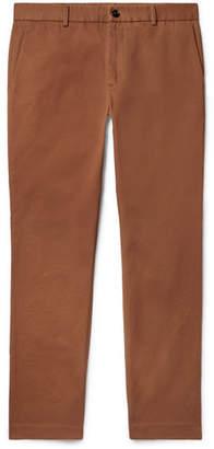 Gucci Slim-Fit Cotton-Drill Trousers - Men - Brown