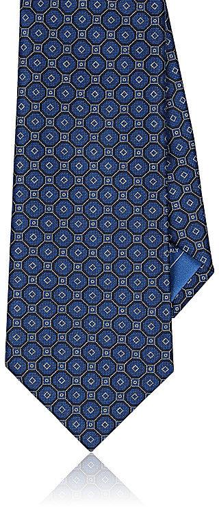 BrioniBrioni Men's Medallion-Print Silk Foulard Necktie